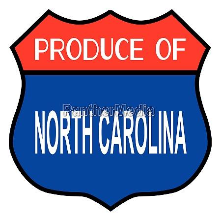 produce of north carolina state