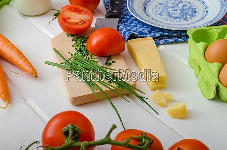 spring vegetable preparation