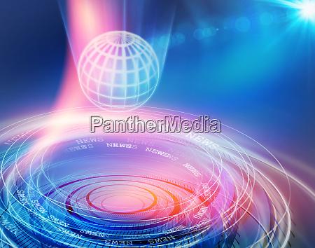 globa communication news background concept