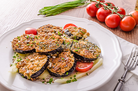 fried zucchini bread wrapped in herb