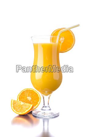 orange juice reflection