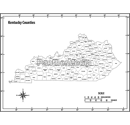 kentucky state outline administrative and political