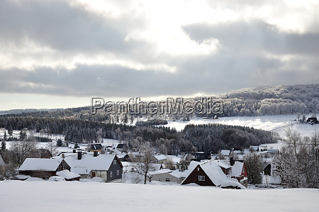 snowy erzgebirge