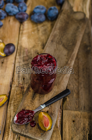 domestic plum jam
