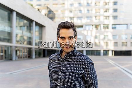 portrait of confident businessman in the