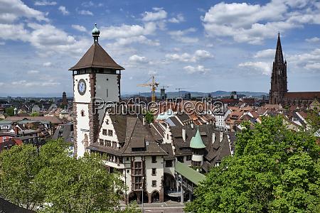 historical swabian gate freiburg germany