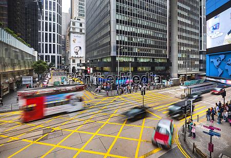 traffic in hong kong central hong