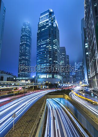 hong kong central ifc at night