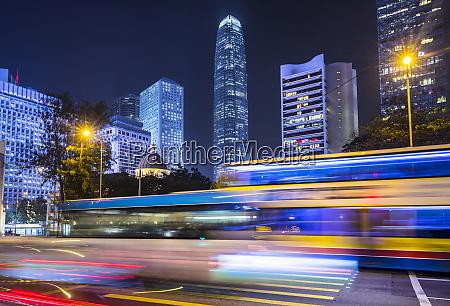 hong kong central at night hong