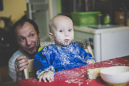 father with his baby son after
