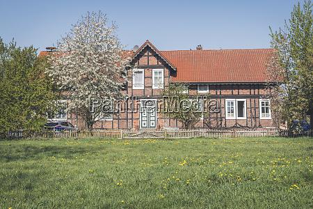 half timbered house wahrenberg saxony anhalt