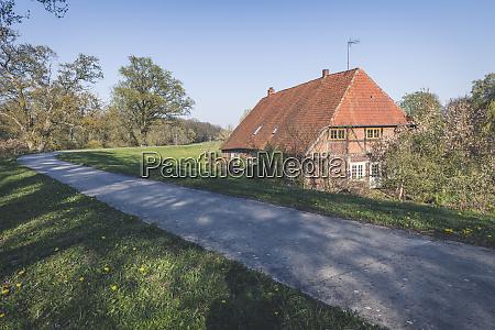 farmhouse near damnatz lower saxony germany