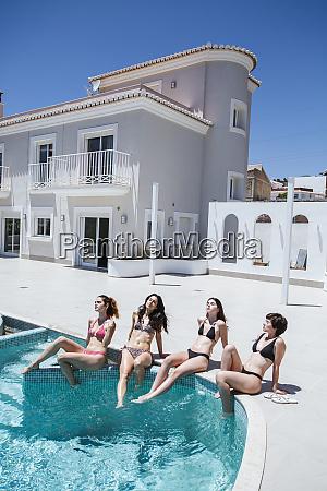 young women enjoying the summer time