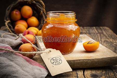 apricot jam and apricots sign made