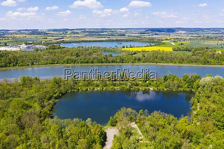 pond lake woerth and isar at
