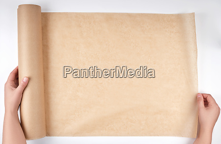 roll of brown parchment paper for