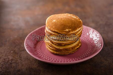 american pancakes with banana chocolate