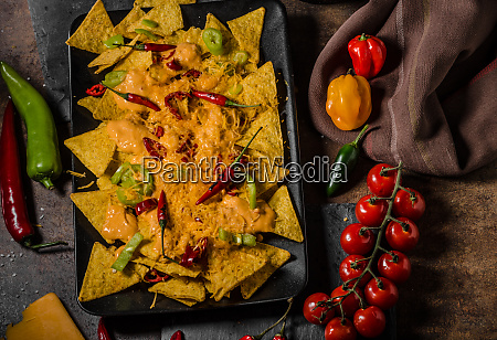 baked nachos with cheese
