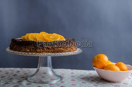 orange cake with honey