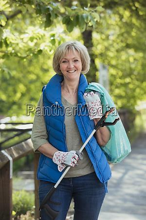 mature female city cleaner