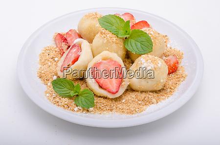 stuffed strawberry dumplings