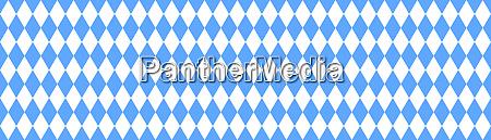 traditional checkered bavarian banner flag blue