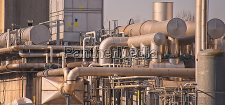 chemical complex pipes and tanks