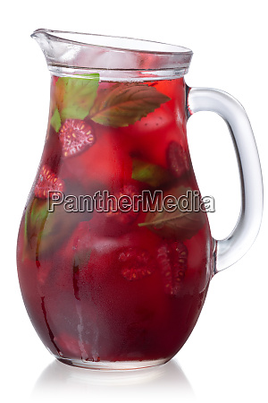raspberry basil iced drink jug paths