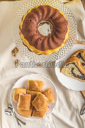 poppy seeds cake and stuffed buns