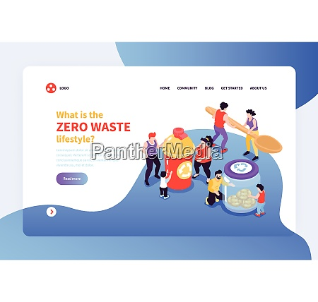 zero waste lifestyle concept banner with