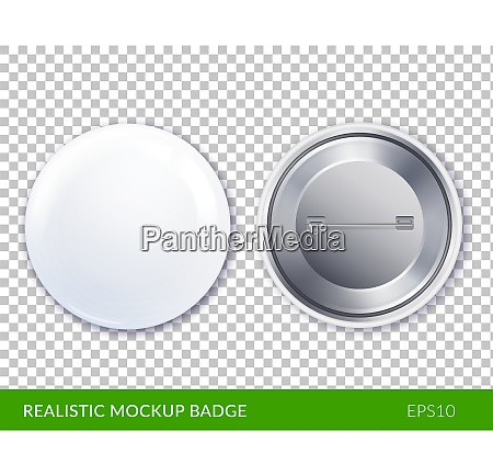 isolated white plastic and realistic mockup