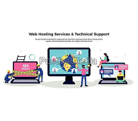 mobile application poster with web hosting