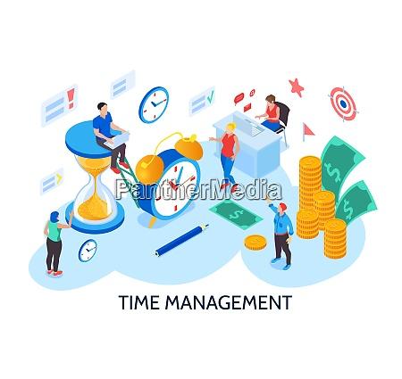 time management design concept for planning