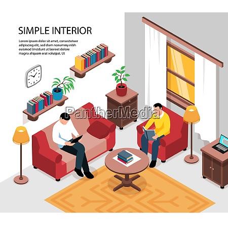 simple cozy apartment room interior design