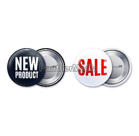 new product badge realistic black white