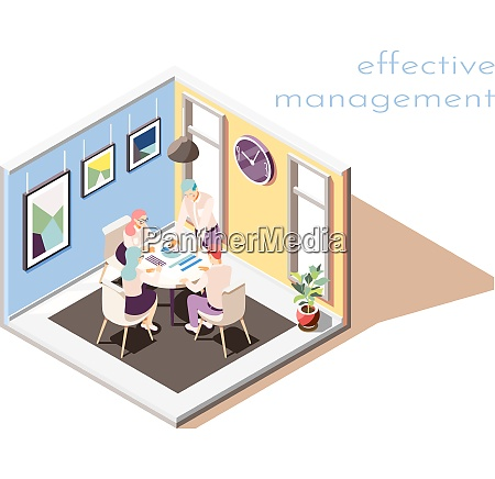 effective management isometric composition with group