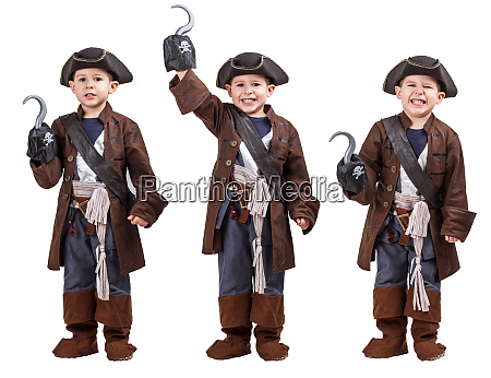 boy wearing a pirate costume