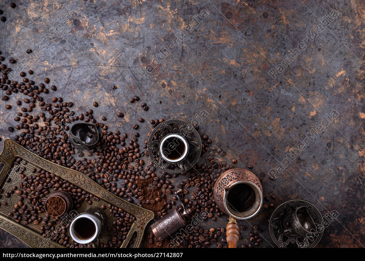 flat, lay, of, turkish, coffee - 27142807