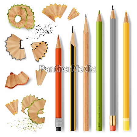 sharpened wooden pencil with rubber eraser