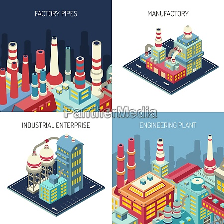 factory pipes industrial enterprise manufacture with