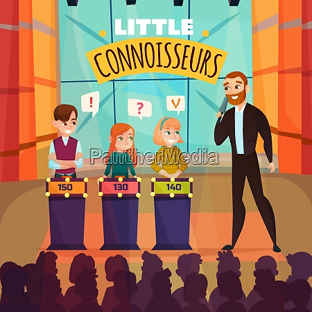 kids quiz tv show with little