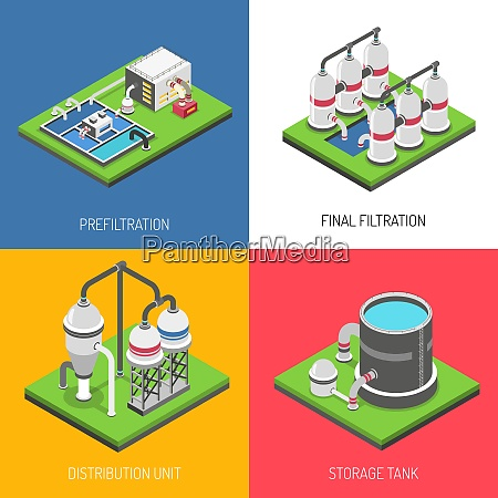 water purification 2x2 design concept set