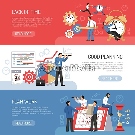 planning work and schedule three horizontal