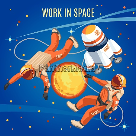 work in space isometric composition on