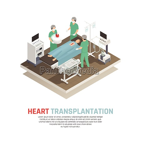 process of human heart transplantation operation