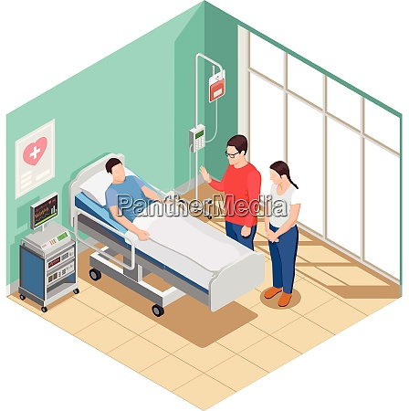 visit friends to patient lying in