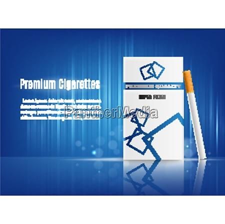 premium cigarettes realistic composition advertisement poster