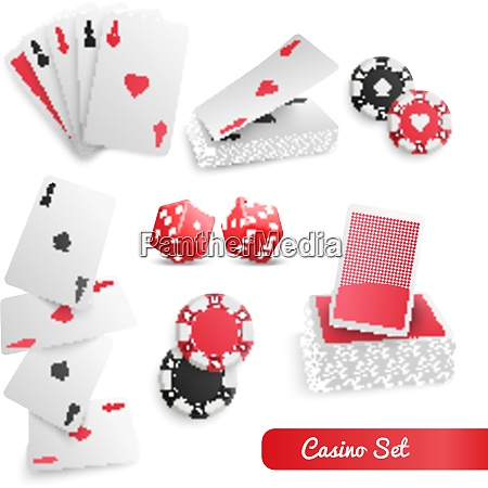 casino supply realistic accessories set with