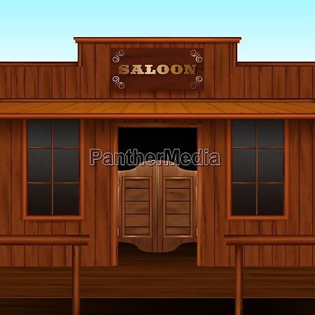 entrance doors facade realistic 3d composition
