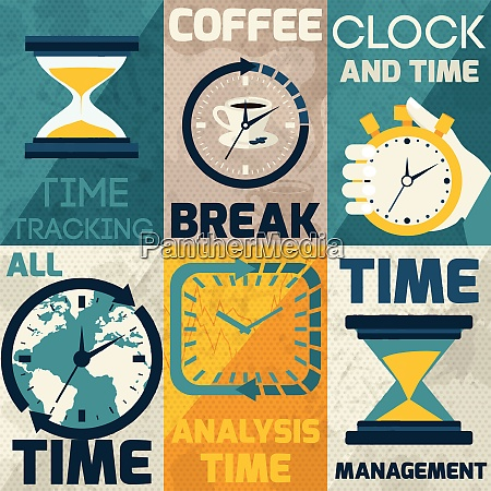 time management mini posters with tracking